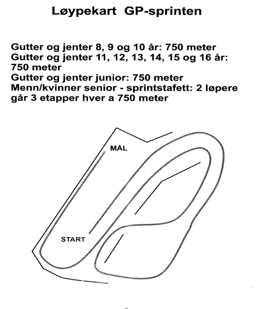 Løypekart GP-sprinten